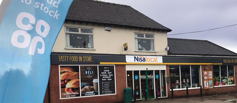 Store launched at super speed in Staffordshire front of store with fascia