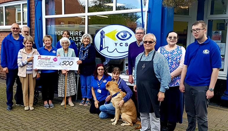 Proudfoot supermarkets Make a Difference for Yorkshire Coast Sight Support