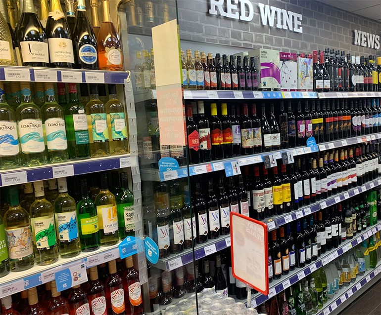Looking good in Leicestershire chilled white wines and stocked red wines