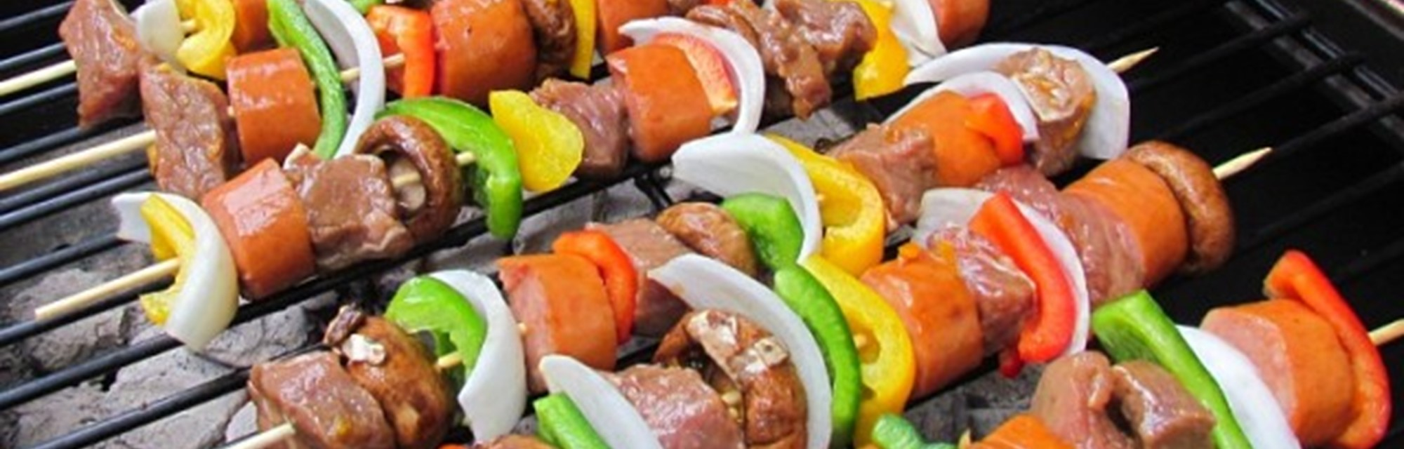 Header - Teriyaki orange beef shish kebabs