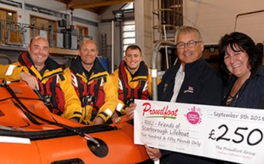 News - Proudfoot supermarkets support Scarborough RNLI with £250 donation