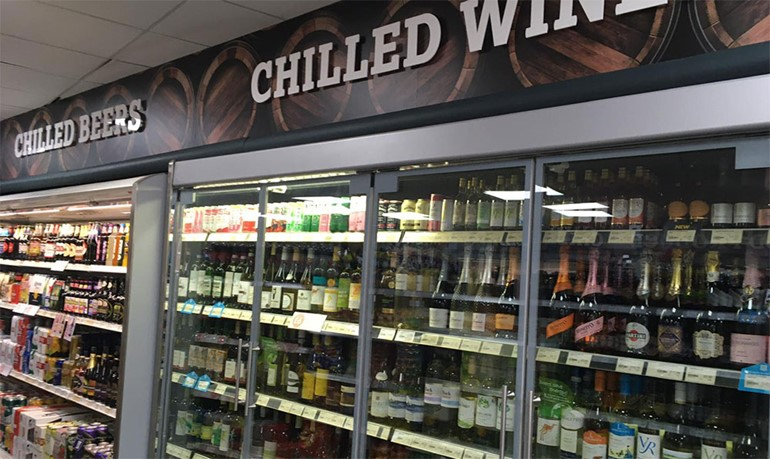 Store launched at super speed in Staffordshire chilled wines and beers