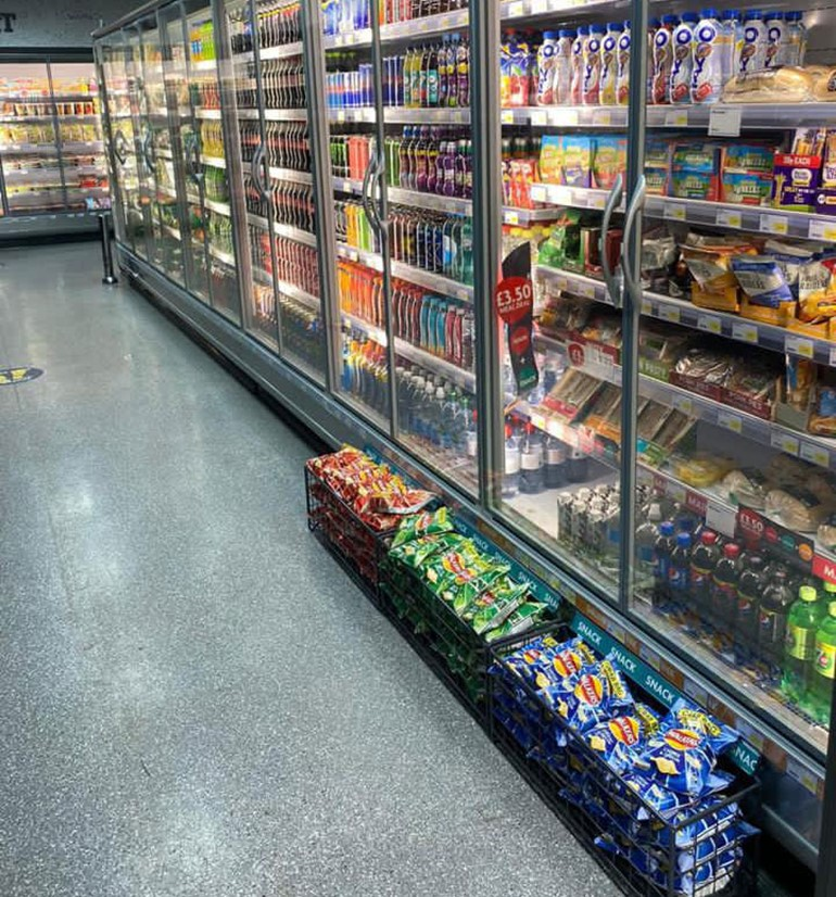 Ten-day transformation in Bolton chilled fridges with soft drinks