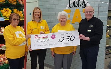 Proudfoot supermarkets support Marie Curie