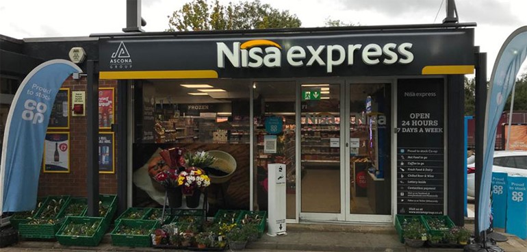 Fast-growing forecourt retailers flaunt Express format store front with flower display