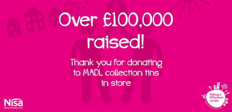 Nisa retailers raise £100k with MADL charity collecting tins Celebration
