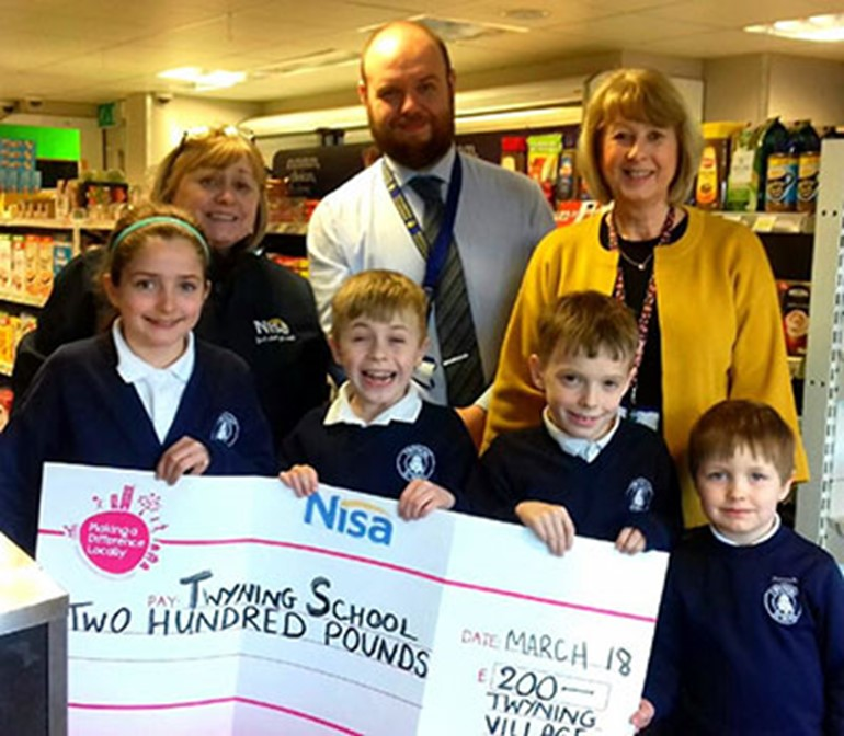 alt - Twyning School Donation 2018